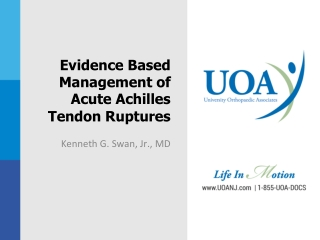 Evidence Based Management of Acute Achilles Tendon Ruptures