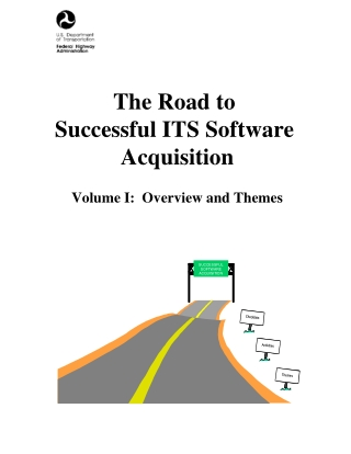 The Road to Successful ITS Software Acquisition