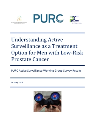 Understanding Active Surveillance as a Treatment Option for Men with Low-Risk Prostate Cancer