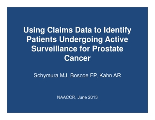 Using Claims Data to Identify Patients Undergoing Active Surveillance for Prostate Cancer