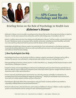 APA Center for Psychology and Health