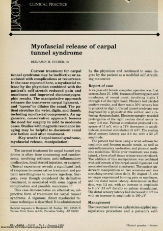 Myofascial release of carpal