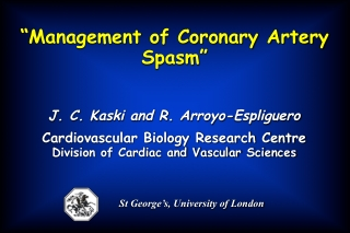 """Management of Coronary Artery Spasm"""