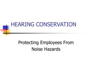 Listening to CONSERVATION