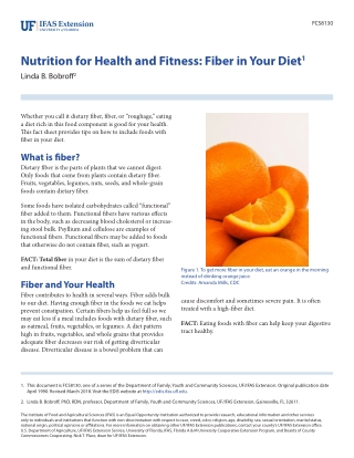Nutrition for Health and Fitness: Fiber in Your Diet