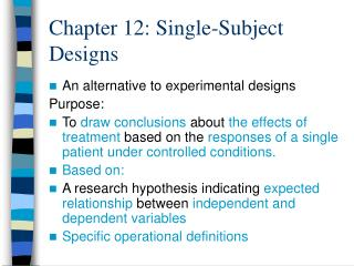 Section 12: Single-Subject Designs