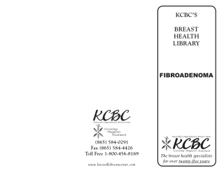 KCBC'S BREAST HEALTH LIBRARY
