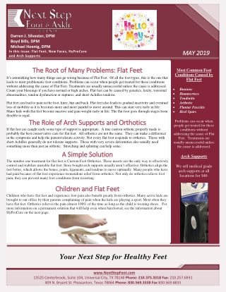 The Root of Many Problems: Flat Feet The Root of Many Problems: Flat Feet