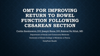 OMT FOR IMPROVING RETURN TO BOWEL FUNCTION FOLLOWING CESAREAN SECTION