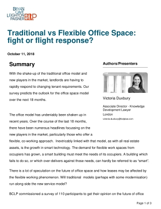 Traditional vs Flexible Office Space: fight or flight response?