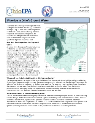 Fluoride in Ohio's Ground Water