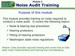 Module 2 Noise Audit Training