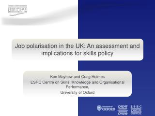 Work polarization in the UK: An evaluation and suggestions for aptitudes approach