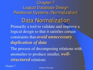 Information Normalization