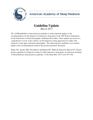 Guideline Update