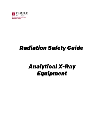 Radiation Safety Guide