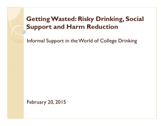 Getting Wasted: Risky Drinking, Social Support and Harm Reduction