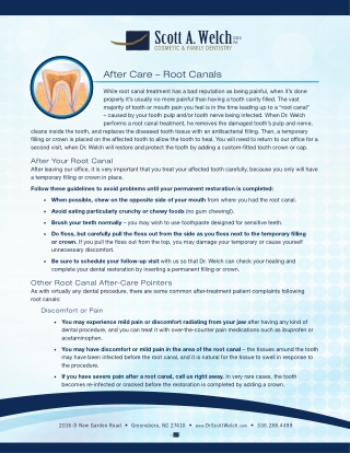 After Care – Root Canals