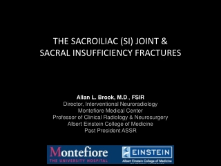 THE SACROILIAC (SI) JOINT &