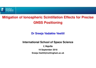 Mitigation of Ionospheric Scintillation Effects for Precise GNSS Positioning