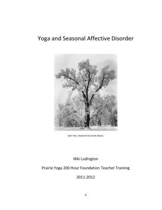 Yoga and Seasonal Affective Disorder