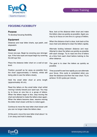 FOCUSING FLEXIBILITY