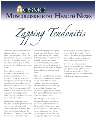 Zapping Tendonitis