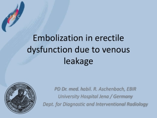 Embolization in erectile
