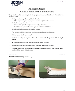 Abductor Repair (Gluteus Medius/Minimus Repair)