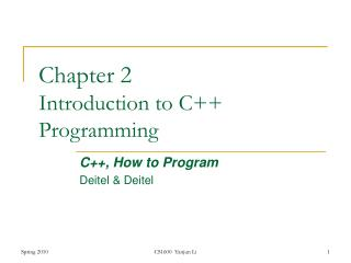 Section 2 Introduction to C Programming
