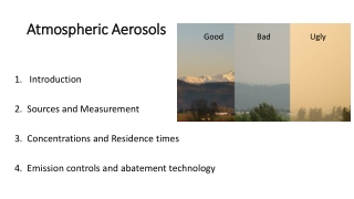 Atmospheric Aerosols Atmospheric Aerosols