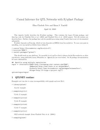 Causal Inference for QTL Networks with R/qtlnet Package