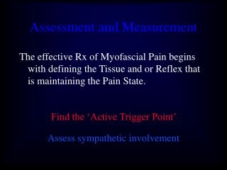 Appraisal and Measurement