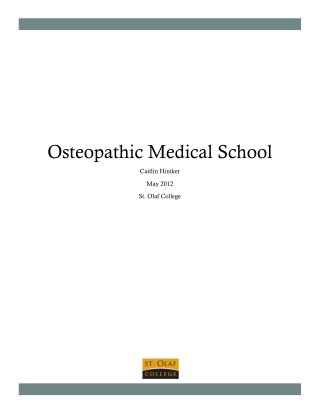 Osteopathic Medical School