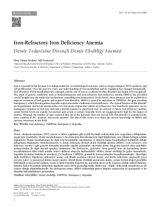 Iron-Refractory Iron Deficiency Anemia