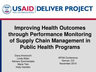 Enhancing Health Outcomes through Performance Monitoring of Supply Chain Management in Public Health Programs