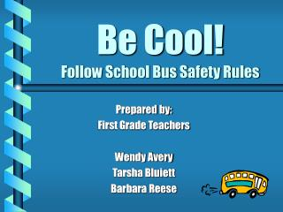Be Cool! Take after School Transport Security Rules