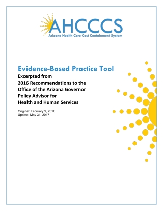 Evidence-Based Practice Tool