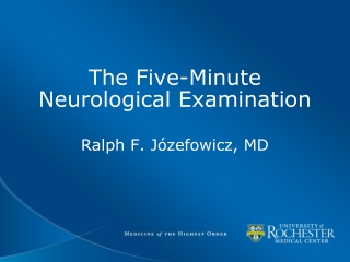 The Five-Minute Neurological Examination