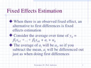 Altered Effects Estimation