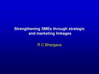 Reinforcing SMEs through key and advertising linkages