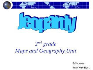 second grade Maps and Geography Unit
