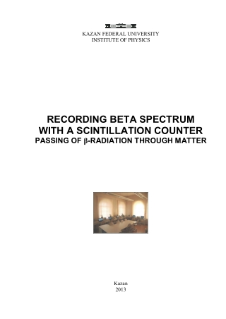 RECORDING BETA SPECTRUM WITH A SCINTILLATION COUNTER