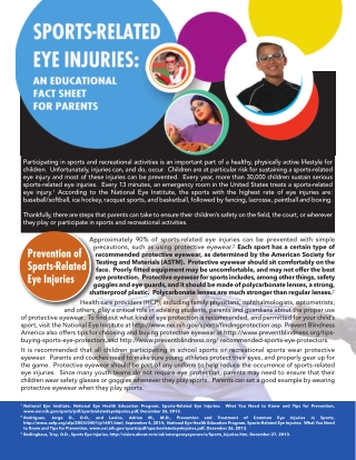 Prevention of Sports-Related Eye Injuries
