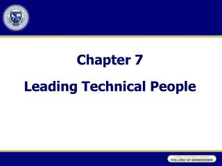 Section 7 Leading Technical People