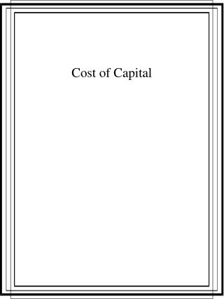 Expense of Capital