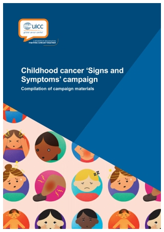 Childhood cancer 'Signs and Symptoms' campaign