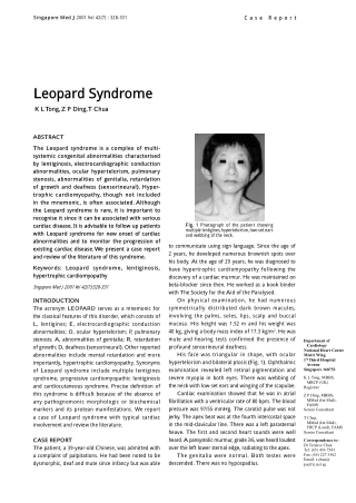 Leopard Syndrome