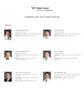 CARDIOLOGY FELLOWS 2019-20 PGY-4