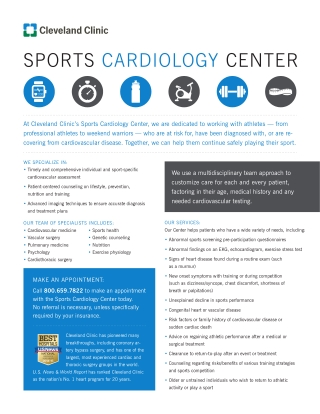 SPORTS CARDIOLOGY CENTER